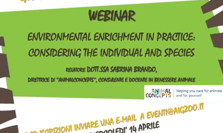 Environmental enrichment in practice: considering the individual and species