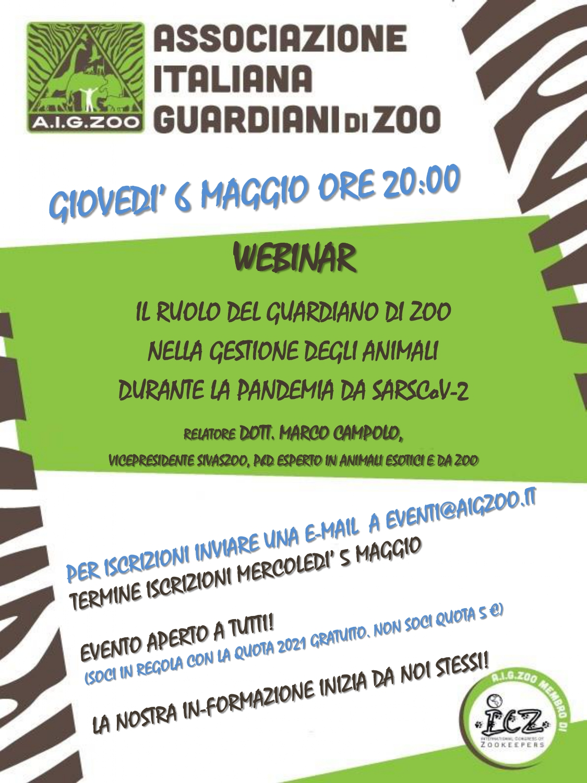 Il ruolo del guardiano di zoo nella gestione degli animali durante la pandemia da SarsCov-2