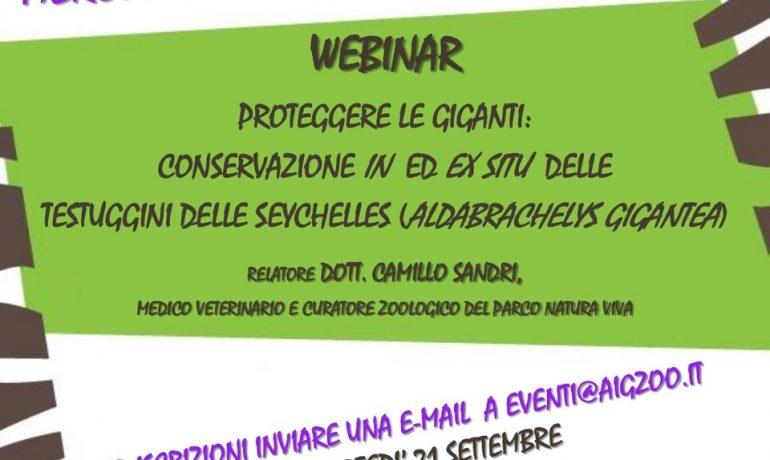 PROTEGGERE LE GIGANTI: CONSERVAZIONE IN SITU ED EX SITU DELLE TESTUGGINI DELLE SEYCHELLES ( ALDABRACHELYS GIGANTEA)